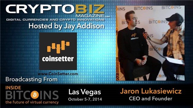 Video - Jaron Lukasiewicz CEO Coinsetter