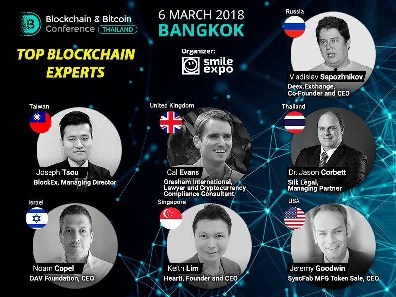 Blockchain اور Bitcoin کانفرنس کے 7 مقررین تھائی لینڈ